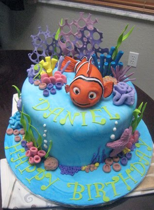Kids Fish Birthday Cake  Birthday Invitation