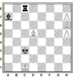 Problema ejercicio de ajedrez número 850: Estudio de G. M. Kasparian (American Chess Quarterly, 1965)