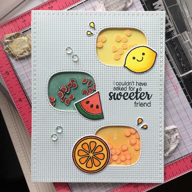 Sunny Studio Stamps: Fresh & Fruity Customer Card by Kumiko Hata