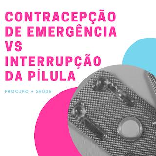 Contracepção de emergência vs interrupção da pílula