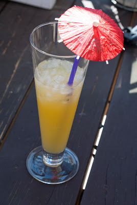 Caribbean Queen, caribbean queen cocktail, triple sec, creme de banana, orange juice