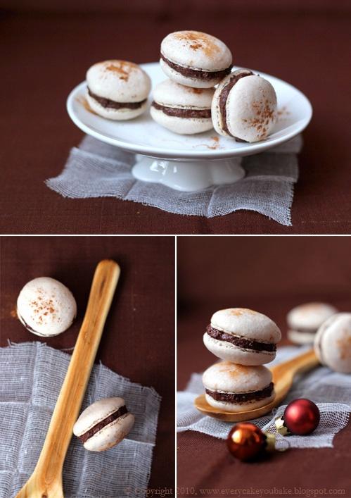 makaroniki piernikowe z kremem czekoladowo-śliwkowym