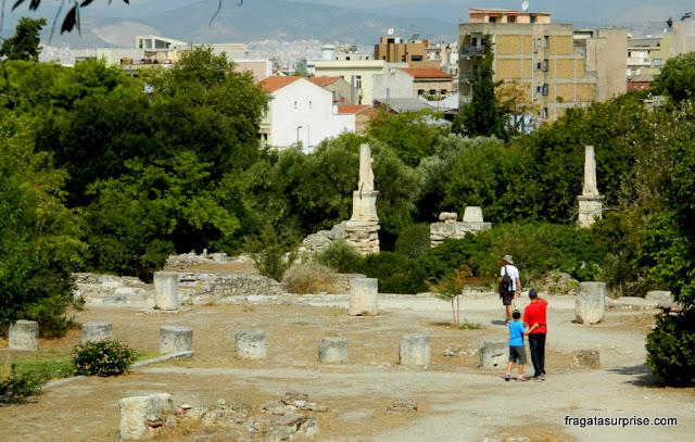 Odeon de Agripa, na Ágora Antiga de Atenas