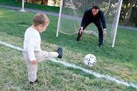 Practice Kicking Balls to improve Toe Walking
