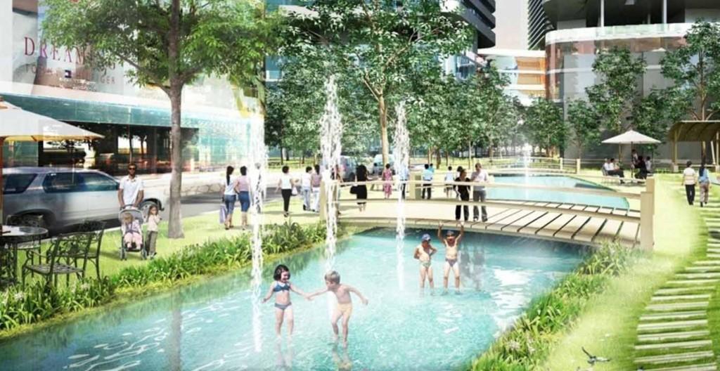 Bể bơi bốn mùa dành cho trẻ em tại chung cư Vinhomes D'Capitale