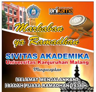 Jam Kerja Bulan Romadhon 1438 Hijriyah Universitas Kanjuruhan Malang