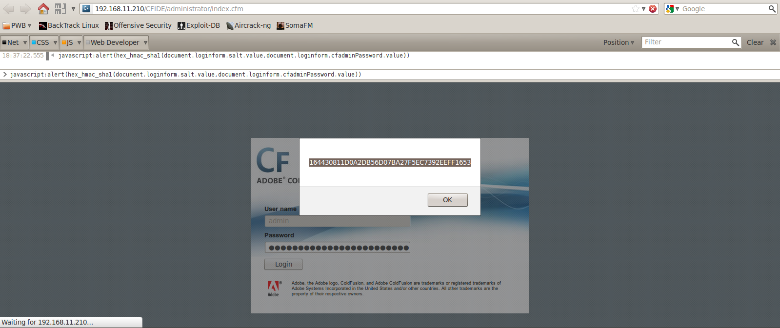 Jump ESP, jump!: Attacking Adobe ColdFusion