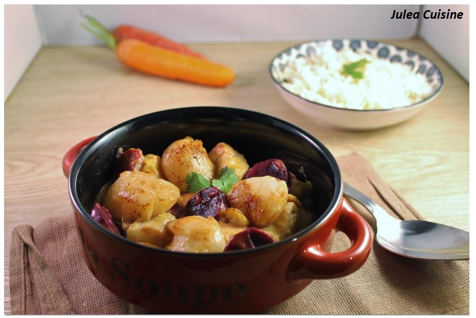 Julea cuisine ma petite cuisine au quotidien cassolette de la mer st jacques saumon - Cuisine legere au quotidien ...