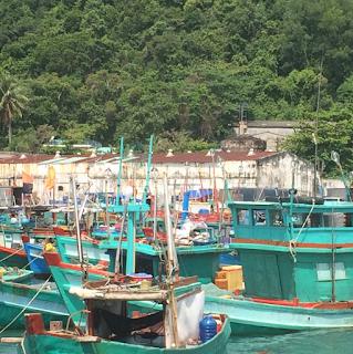 Phu Quoc Vietnam harbor boats