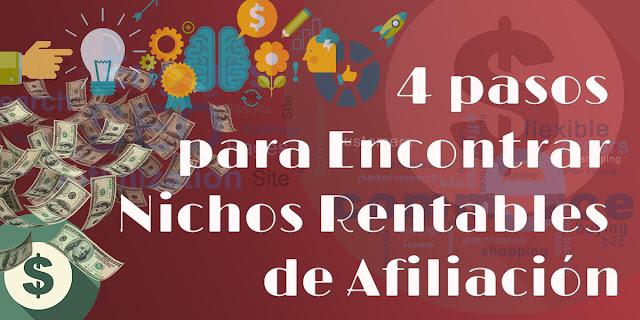 Te mostramos cómo se puede con 4 pasos encontrar nichos rentables de afiliación