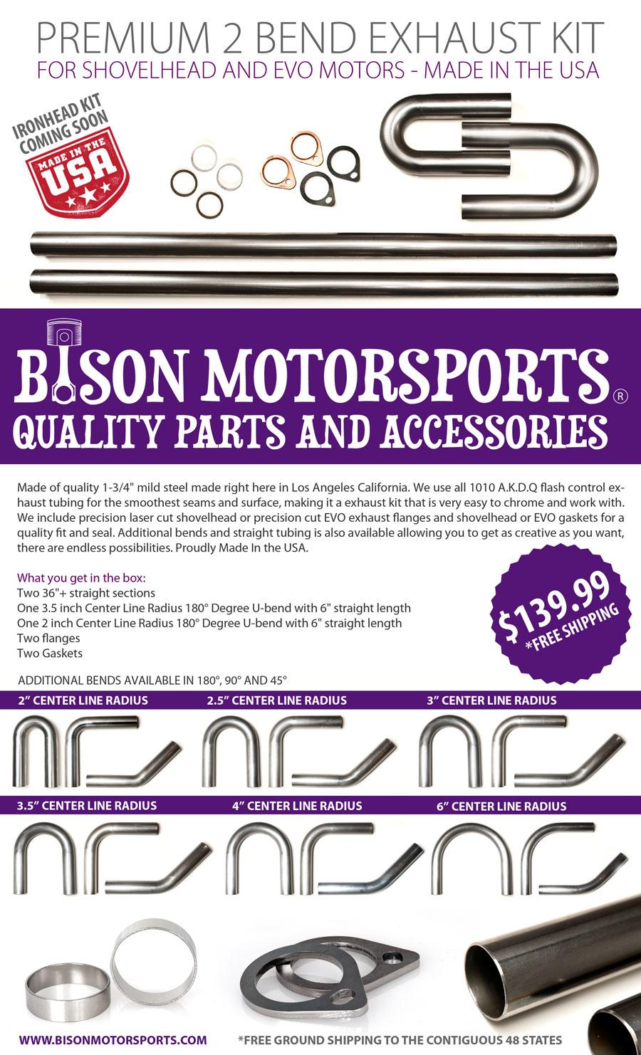 ChopCult: Bison Motorsports Announces the Launch of Premium
