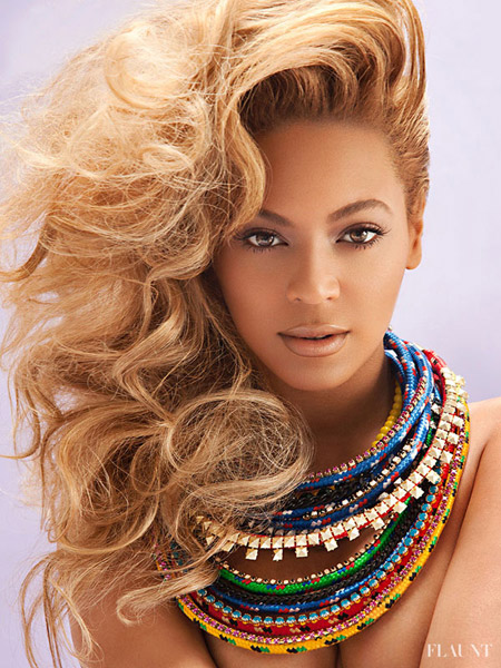 beyonce flaunt 5 Naked and covered in glitter; Beyonce transforms for Flaunt Magazine