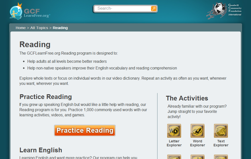 Learn to Read English online | Education Degree Online