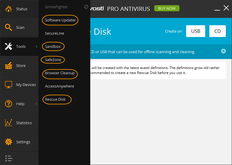 Avast Pro Antivirus 2014 Features