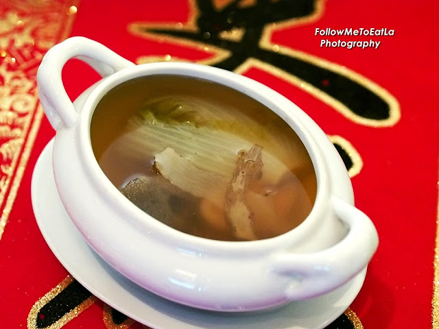 Double-Boiled Chinese Cabbage Soup With Baby Abalone & Boletus Fungus