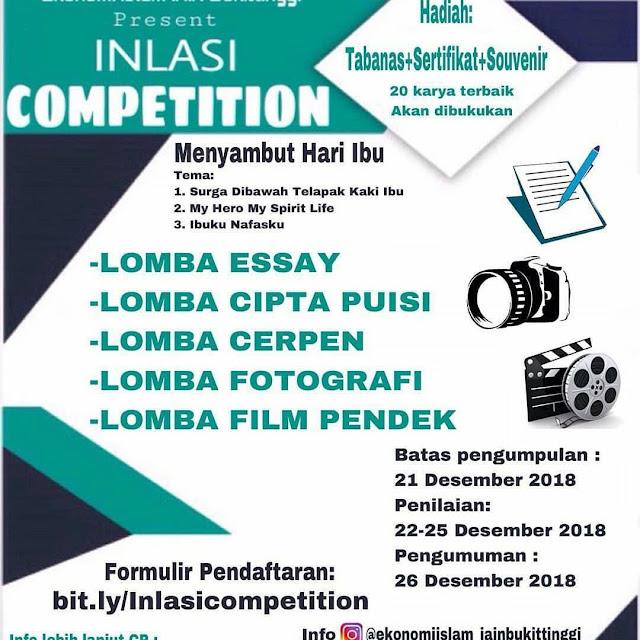 Event Inlasi Competition 2019 SMA Sederajat-Mahasiswa