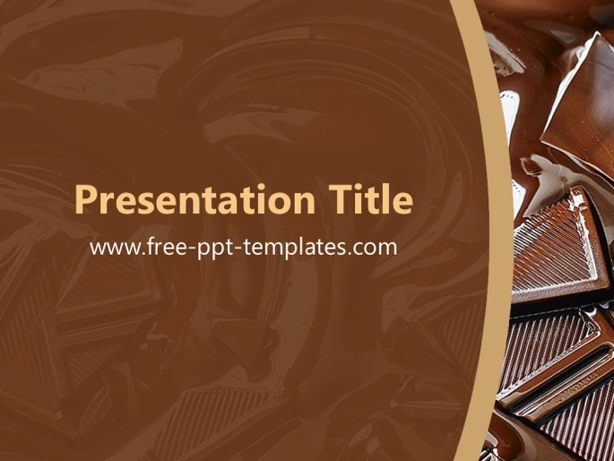 Chocolate ppt template toneelgroepblik Choice Image