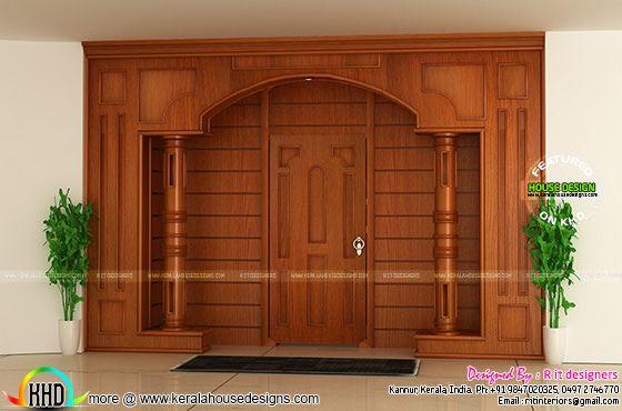 Front door wooden