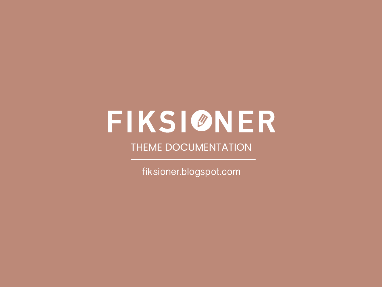 Fiksioner Personal Blogger Theme Free Download