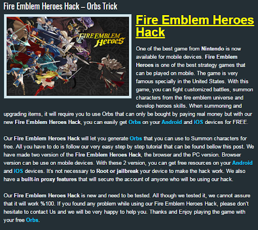 Fire Emblem Heroes Hack | How To Get Unlimited Orbs ( Version Updated 2017) For Android & iOS