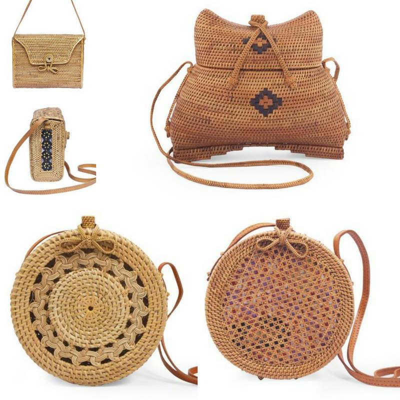 ¿dónde comprar un bolso de ratán para el verano?