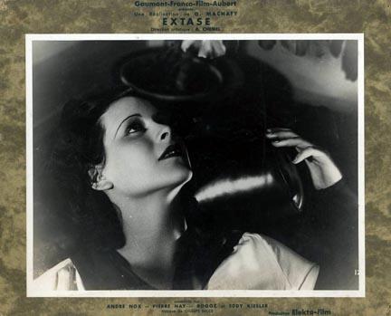 Cartel de la película Ecstasy de Gustav Machatý de 1933 con la bella  Hedy Lamarr