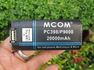 Baterai Hape Antik Prince PC9000 Double Power Merk MCOM 20000mAh