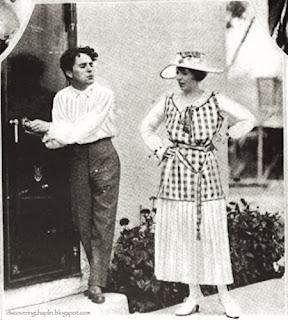 Чарли Чаплин и Ина Клэр на студии Чаплина