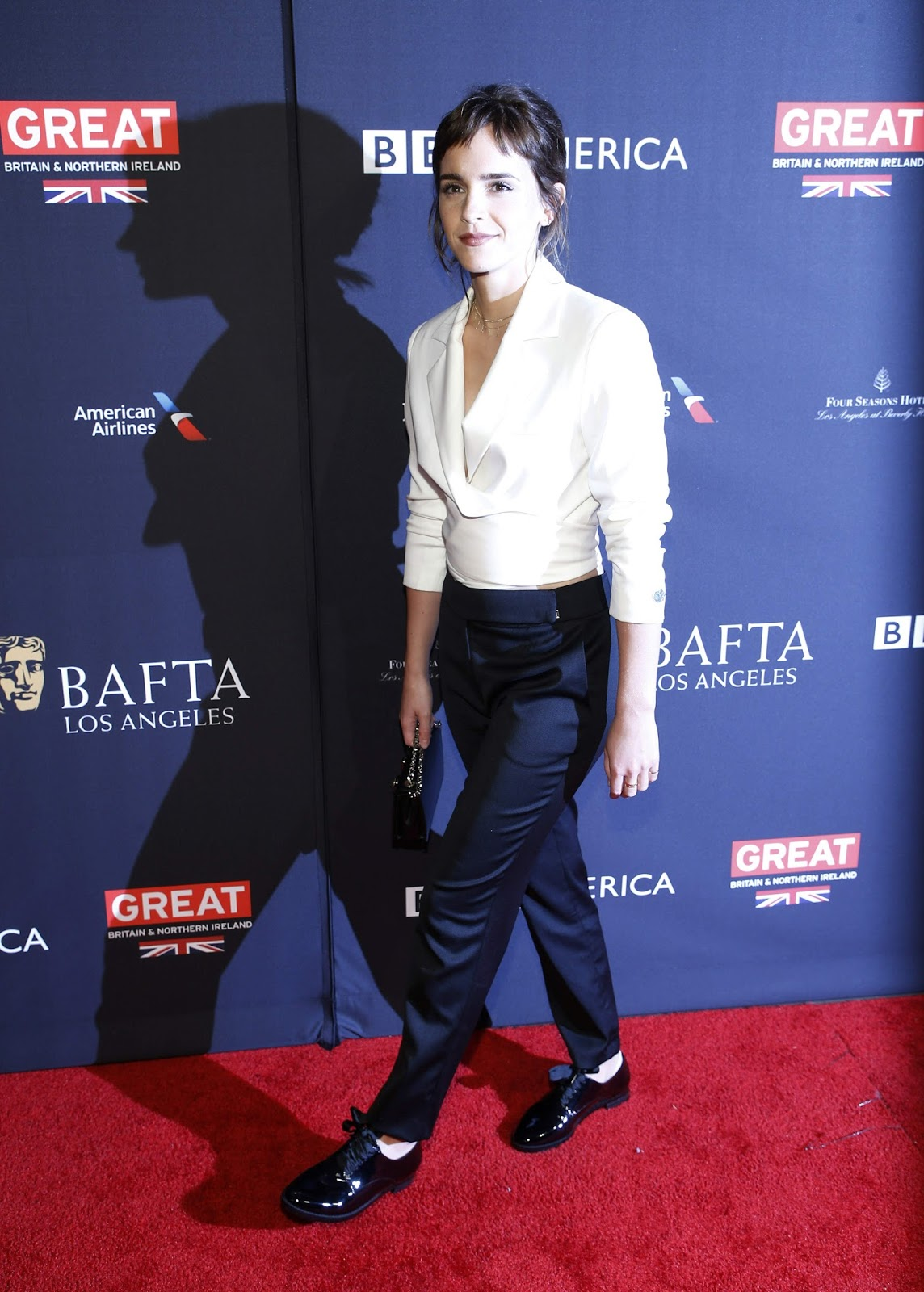Emma Watson Posing at The BAFTA Los Angeles Tea Party