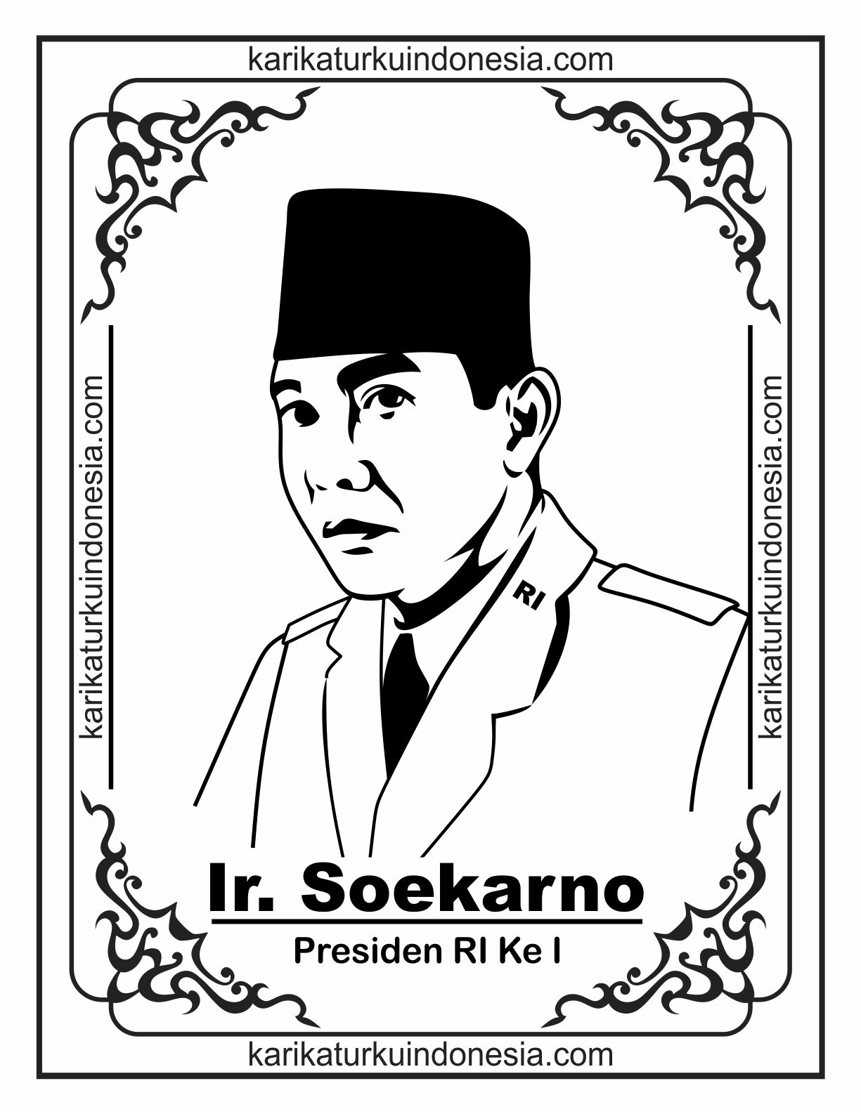 Mewarnai Gambar Presiden Jokowi