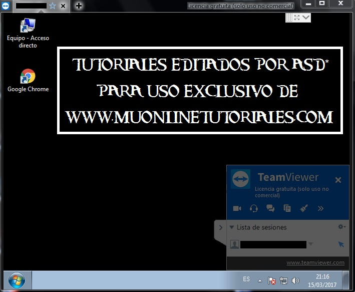 Ingresando el password del teamview