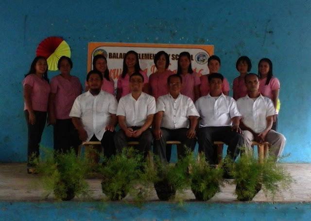 Balabag ES teaching force with their School Principal