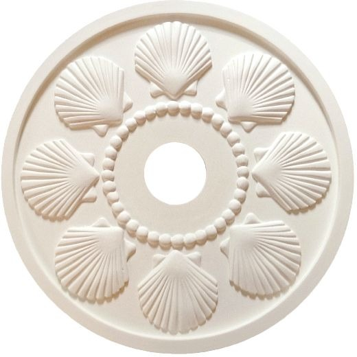 Ceiling Medallion with Shell Motif by Marie Ricci