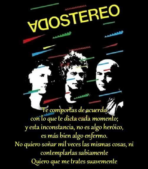 Imágenes Y Frases Bonitas Frases De Rockeros Soda Stereo
