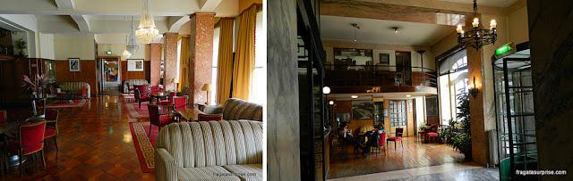 Sala de estar e lobby do Hotel Astoria - Coimbra, Portugal