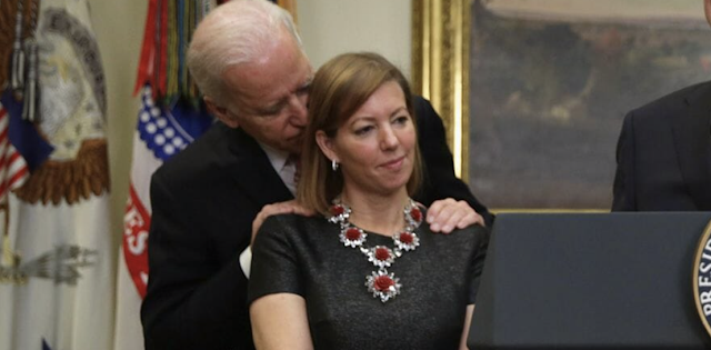 "Woman In Infamous Biden Handsy Picture Defends Former VP – Says It Was ""Moment Between Close Friends"""