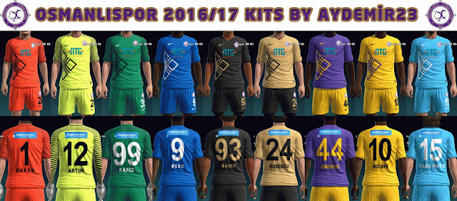 OSMANLISPOR 2016/17 KITS BY AYDEMIR23