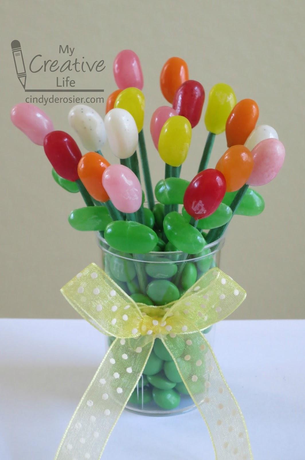 Cindy deRosier: My Creative Life: Miniature Edible Jelly Bean Bouquet