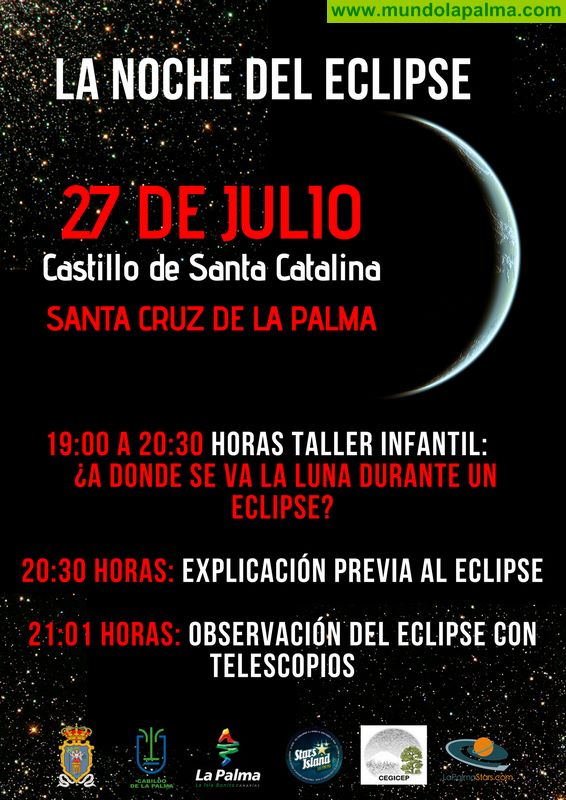Ayuntamiento y Cabildo organizan una actividad de observación lunar durante el eclipse de este viernes