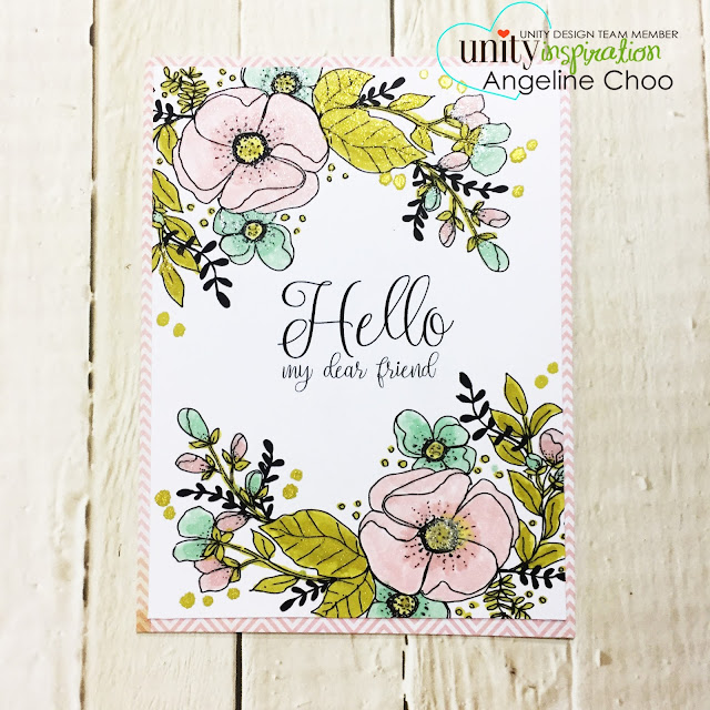ScrappyScrappy: Uniquely Unity with Unity Stamp #scrappyscrappy #unitystamp #uniquelyunity #card #cardmaking #spectrumnoir #spectrumnoirsparklepens #glitterpens