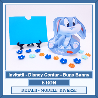 http://www.bebestudio11.com/2017/12/invitatii-botez-bugs-bunny-disney.html
