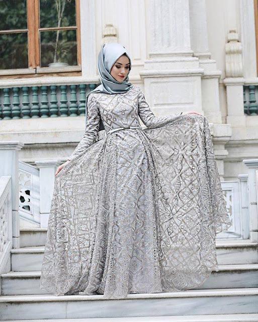 Vêtement hijab simple avec robe
