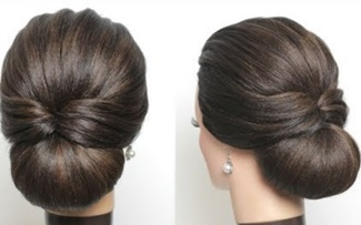 New Simple Hairstyle For Girls. Cute And Easy Party Hair Bun