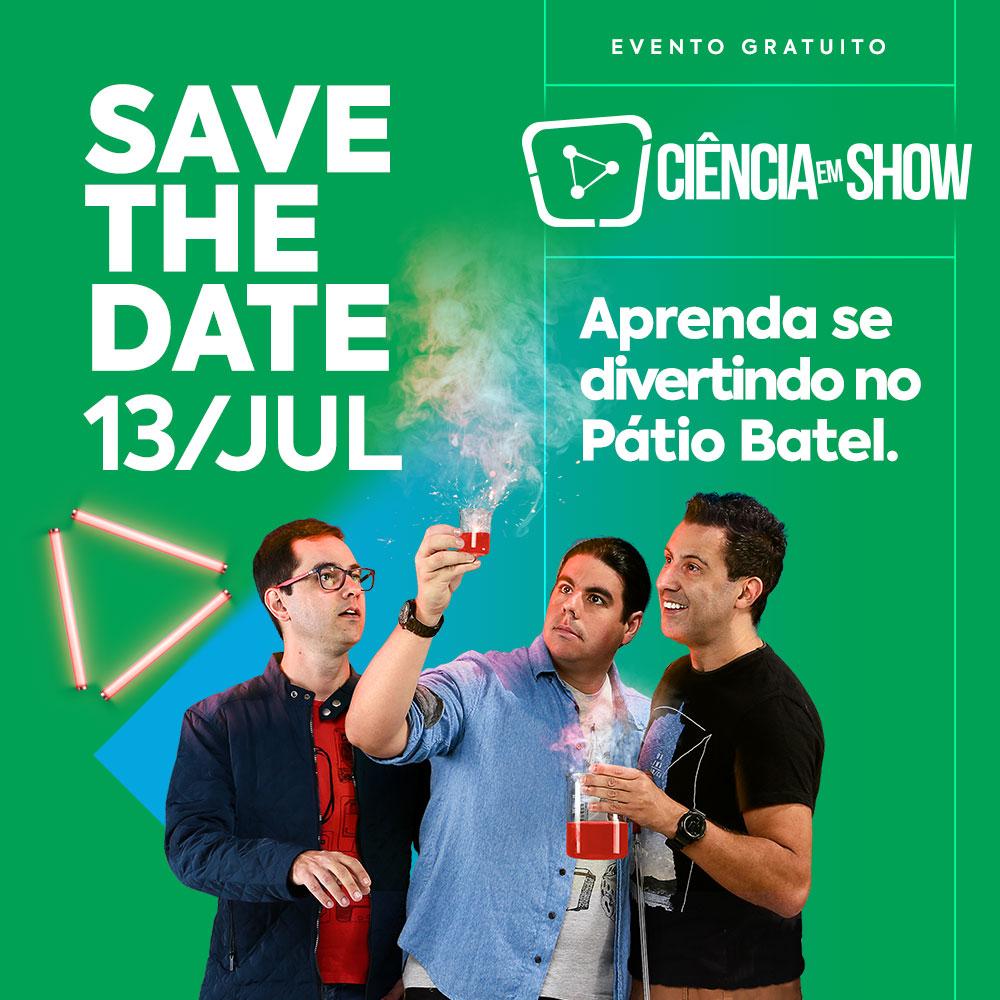 Ciência em Show - programação de férias em Curitiba - imagem divulgação