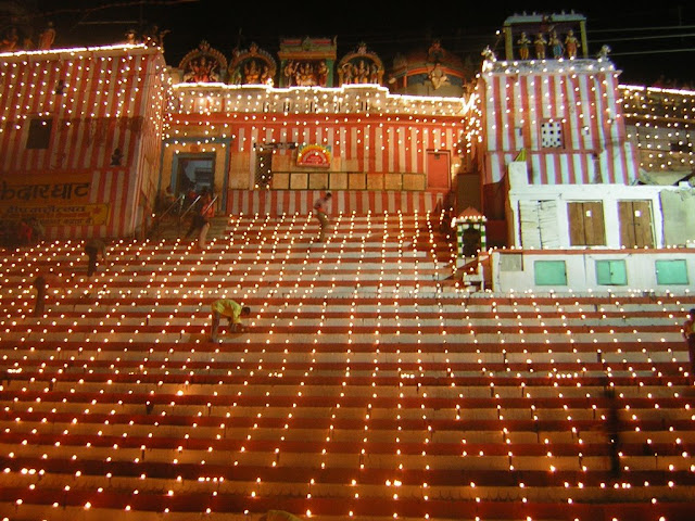 Deewali at kedar ghat wallpapers