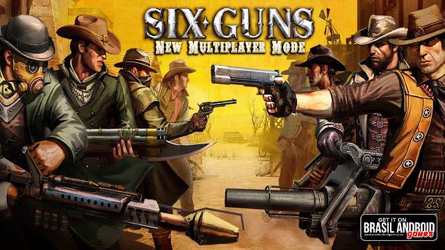 تحميل لعبة معركة العصابات six guns للكمبيوتر والموبايل الاندرويد برابط مباشر ميديا فاير apk مجانا