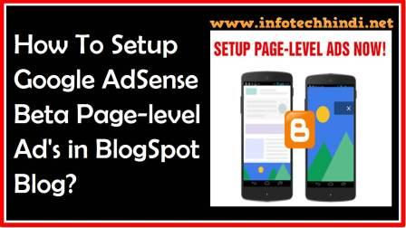 Setup Google AdSense Beta Page-level Ad's in BlogSpot Blog