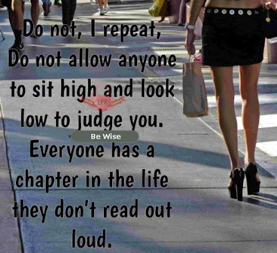 dont allow anyone to judge you