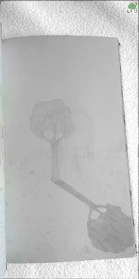 szare drzewo, rysunek, gimnazjum, nauczyciele, ołówek