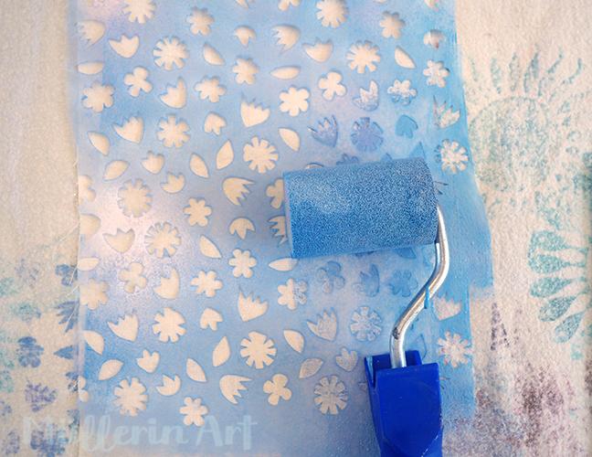 Schablonen-Streublümchen-Druck nach ©muellerinart